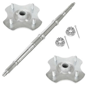 Rear Axle Shaft W/ Wheel Hub Nuts for Honda TRX300FW Fourtrax 300 4X4 1992-2000