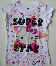 Girls Youth HELLO KITTY T shirt Top size large L 10-12