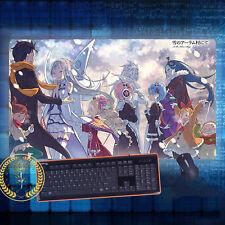 Anime Re: Zero Emilia/Rem/Subaru Mouse Pad Play mat GAME mat Mousepad#3B-Y104