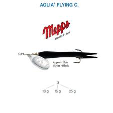 Cuiller MEPPS AGLIA FLYING C  10 g Argent (Silver) / Noir (Black) New