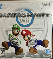 Mario Kart (Nintendo Wii, 2008) Complete CIB W/ Original Box And Authentic Wheel