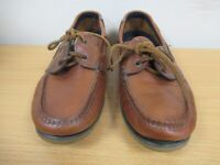 Marks and Spencer American Leather Collection Brown Deck Shoes Size UK 7 (C448)