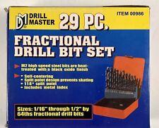Drill Master 29 PC. Fractional Drill Bit Set #00986