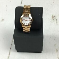 Marc Jacobs MBM3077 Women's Rose Gold SS White Dial Watch Preowned