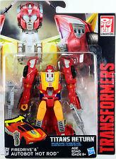 Transformers Deluxe Class ~ Autobot HOT ROD w/FIREDRIVE ~ Titans Return