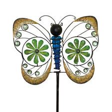 """Jeweled Butterfly Metal Wind Spinner Everyday Yard Stake 20""""x63"""" Briarwood Lane"""