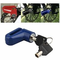 New Bike Bicycle Motorcycle Safety Anti-theft Disk Disc Brake Wheel Lock 2 Keys