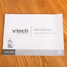 vTech ia5823 User's Manual Cordless Telephone Answering System