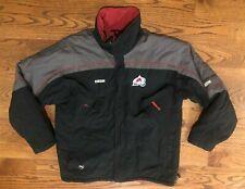 Colorado Avalanche Hockey NHL Center Ice Authentic CCM Heavy Jacket Men's Large