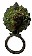 Cat Fox Vintage Antique Style Handcrafted Brass Door Knocker Bell Home Decor