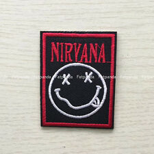 NIRVANA Classic HAPPY FACE Rock band Embroidered Patch iron/sew on badge BD156