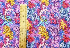Custom 100% Cotton Woven Fabric My Little Pony Purple by the 1/4 yard SHIPS FAST