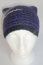 The North Face Kaylinda Beanie Womens Purple Knit Hat New One Size Merino Wool