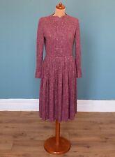 Vintage 70's Wool Dress Retro Boho Mod 12