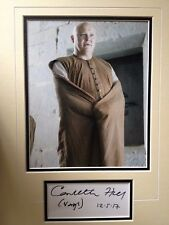 CONLEITH HILL - LORD VARYS - GAME OF THRONES ACTOR - SIGNED PHOTO DISPLAY