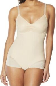 Rhonda Shear Bodysuit with Molded Cups- Size 1X, Frappe, NWOT