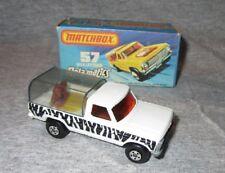 Vintage Matchbox Lesney #57 Wild Life Truck  MIB Type J box WHITE ZEBRA BODY