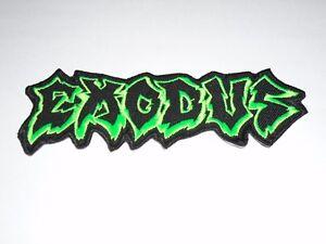 EXODUS THRASH METAL IRON ON EMBROIDERED PATCH