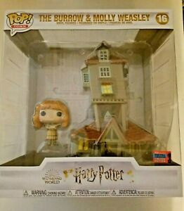 Funko Pop Town NYCC Shared Exclusive Harry Potter The Burrow & Molly Weasley MIB