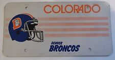 Colorado Sample Prototype Blank License Plate Denver Broncos