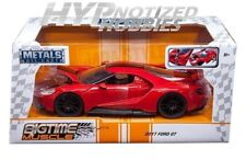 JADA 1:24 FORD GT 2017 DIE-CAST RED WITH BLACK STRIPES 99391