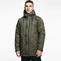 Seventy Seven - Men's Parka Jacket Olive Green - Fashion Warm Winter Autumn Wear