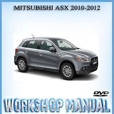 MITSUBISHI ASX 2010-2012 WORKSHOP SERVICE REPAIR MANUAL IN DVD