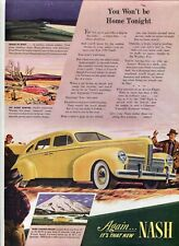 "Original '40 Nash Automobile Magazine Ad ""New Nash"" from The Amer. Home Nov 1939"