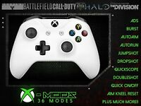 XBOX ONE S SCHNELLFEUER CONTROLLER Weiß Jede Farbe LED CoD BATTLEFIELD Modell
