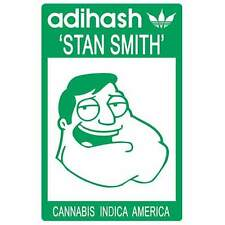 PEGATINA STICKER ADIHASH STAN SMITH CANNABIS INDICA AMERICA ADIDAS