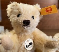 MINT w/ Button & Tags Steiff Classic Mini Jointed Blonde Teddy Bear Toy, Germany