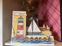 handmade Card Kit Stampin' Up! Lighthouse Ocean Boat Step Card