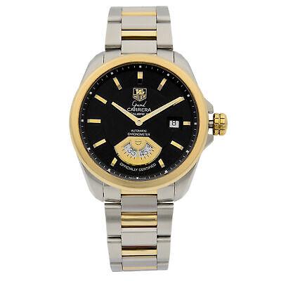 Tag Heuer Grand Carrera Steel Black Dial Automatic Mens Watch WAV515A.BD0903