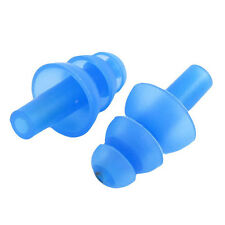 2 Pairs Swimming Dive Flexible Silicone Ear Plugs Earplug Blue