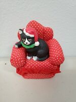 Vintage Russ Cat On a Couch Christmas Holiday Decor Collectible
