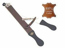 STRAIGHT RAZOR AND RAZOR SHAPING STROP SET EXCELLENT