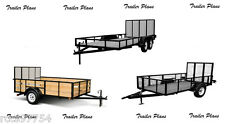 (3 Sets)Trailer Plans For 7x14 Tandem Axle + 6x12 & 5x10 Single Axle Trailers #1