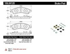 Disc Brake Pad Set-Rear Disc Front Centric 106.04120