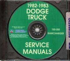DODGE 1982 & 1983 Pick Up & Truck Shop Manual CD 82 & 83