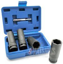 5pc Twist Deep Socket Set 4 Damaged Worn Lug Nut and Lock Remover 17,19,21,22mm