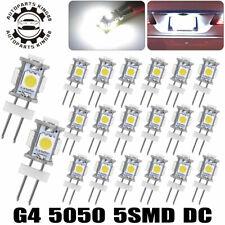 20X White G4 5050 SMD LED RV Trailer Marine Boat Camper Light Bulb Lamp DC 12V