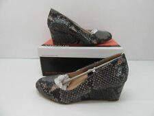 Vionic Orthaheel Antonia Mid Wedge Pump Natural Snake Size 7 M