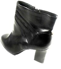 "Monet ""Margie"" Women's Black Pleated Synthetic High Heel Fashion Ankle Boot 8M"