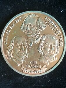 1994 EARLY AMERICAN COPPER  E.A.C. CVM  TOKENS-SET OF 3 (SILVER,  COPPER, BRASS)