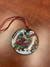 Vintage 1990 Bing Grondahl Ornament Copenhagen Porcelain Santa Claus Collection