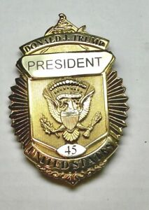 Donald Trump 45 President Presidential Badge Pin United States U.S. Souvenir