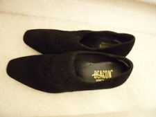 Beacon Size 8 1/2N Mid Heel Black Suede like Boot Shoes Stretch Front Design New