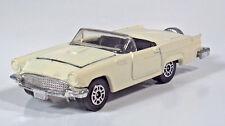 """Vintage 1980 Corgi 1957 Ford Thunderbird T-Bird 2.75"""" Scale Model Cream White"""