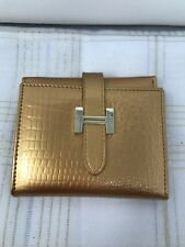 New Gold Tone Banyanu Wallet