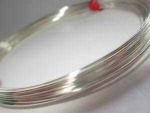 Sterling Silver Round Wire Half Hard-1mm to 0.25mm (18 Gauge - 30 Gauge) per mtr